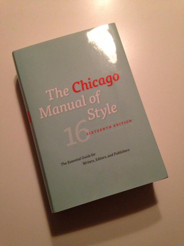 I think online is the way to go but I got the book today... 1k pages of clarity @ChicagoManual #edit #happy http://t.co/nqOY7C7PM2
