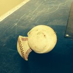 Here is the poor ball that @Machete1224 knocked the cover off of earlier: #MILvsPIT http://t.co/YvpUoFavKo