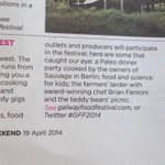 RT @ThegHotel: If youre not here already - get thee to Galway for the @Galwayfood Festival #GFF2014 - in the @Independent_ie today! http://t.co/jfjRlZKxH9