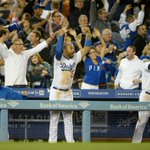 RT @Dodgers: The reaction to Juan Uribes 9th inning home run: http://t.co/wLI94HE9tQ