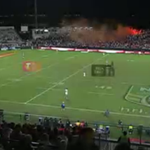 RT @LeagueUnlimited: Someone has let off a flare on the hill at Jubilee Oval #NRL #NRLsgiwar http://t.co/QJRyy8YPdW