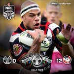 RT @NZWarriors: NRL | HALF TIME Vodafone Warriors 0 Dragons 12 #WarriorsForever http://t.co/qbhRv5JDZM