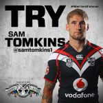 RT @NZWarriors: UPDATE | TRY - #BOOM @samtomkins1 slices through the Dragons | 49 #WarriorsForever #nrlsgiwar http://t.co/ZuUuDo8L8j
