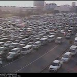 Traffic situation at Bocaue SB Tolll Plaza as of 5:25 PM. http://t.co/qh9qqW2lE8