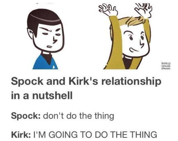 Spock-Kirk relationship. #StarTrek   Photo via @GeorgeTakei http://t.co/cxryIoyitS
