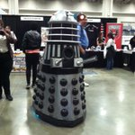 Even daleks like to read! #Exterminate #AwesomeCon http://t.co/ogiar2JPsp