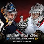 RT @NHLBlackhawks: #Blackhawks. Blues. Game 2. TODAY! Heres our game preview: http://t.co/QdQ8agNkHO http://t.co/fKgnayN0RO