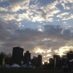 Sunrise over the b_a_a_ 5K. Welcome runners! http://t.co/ghfDWmPlln