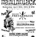 My crew Maninblack 4/30/14 w/ Freya Willcox, Dealstatic, DJ Black Dalek @maninblack_nyc @dealstatic #punk #free #nyc http://t.co/MnrncshTza