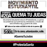 RT @JuanRequesens: #20A Este #DOMINGO quema tu Judas! http://t.co/KlEym2R1PV