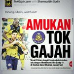 Tahniah ye utk game mlm td.. All the best utk next game.. Koi syg aokme player Pahang weh @PahangFA tlg kabo ye ekeke http://t.co/ZyipX5NCO7
