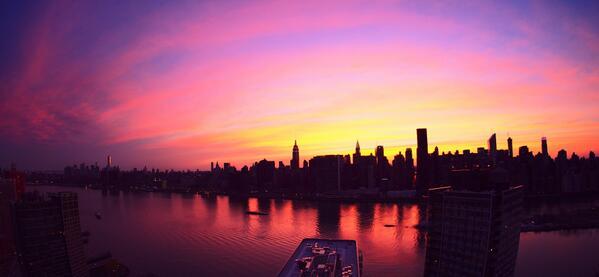 New York City on fire tonight.... http://t.co/OXfBhBoPC9
