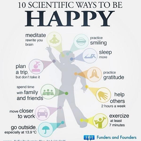 10 scientific ways to be happy RT @HilenaHailu http://t.co/UtWEV6U5OU