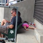RT @McCoyKRHDSports: Not everyone is totally into #AggieBaseball today... http://t.co/kmh97Mj1lY