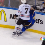 RT @BleacherReport: VIDEO: Chicagos Brent Seabrook crushes David Backes with a huge hit http://t.co/ITGkrrlm5r http://t.co/VXBdRZoPJf