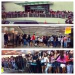 @ddlovato has over 10.000 Lovatics at the airport in Brazil! We love you!#DEMIBRAZILCANTWAITTOSEEYOU { http://t.co/IXXgBxFJTP