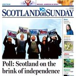 "RT @AndrewFairlie1: ""@KennyFarq: Front Page of this weekends Scotland on Sunday. #indyref http://t.co/YEB1euz6VF"""