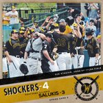 #WATCHUS WIN! Wichita State-4, Southern Illinois-3; @ShockerBaseball takes Game 2 (12 innings). http://t.co/9vVshM92qp