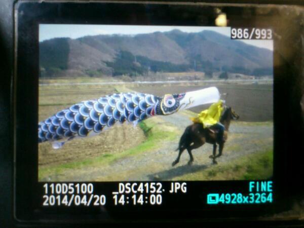 遠野!RT @hideyoshi201: SL銀河の横に鯉のぼりをなびかせて馬に乗ったおじさんが登場!遠野すげぇ~やw http://t.co/jnJVBiPOcd