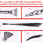 "R u able 2 identify d diff bet 5 symbols ? Its ""E"" = Jhaadu or Broom Dont forget to RT. #OurHopeAAP #AkinAmethi http://t.co/EBT4eLJbQz"