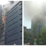 Fire at #Samsung building. #PrayForSouthKorea http://t.co/4raDoFLhHn