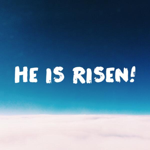 He is Risen and death has lost its sting! Hallelujah! Made with @VRSLY #VRSLY #madewithVRSLY #Easter http://t.co/hIlt1LBfWO