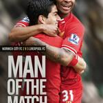 RT @LFC: Congratulations to @sterling31, who you have voted as #LFC Man of the Match against Norwich City... http://t.co/i00K9kqjl8