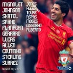RT @LFC: PHOTO: Today's #LFC starting XI and subs match graphic http://t.co/CfK18IQOR1