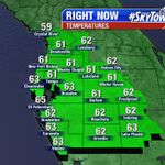 Happy Easter! Grab a cardigan if youre headed to a sunrise service. A little patchy drizzle nr coast #skytower #flwx http://t.co/riPXSb9LaI