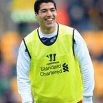 RT @LFC: PHOTO: @luis16suarez warms up at Carrow Road http://t.co/KTmeJa9Lhn