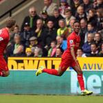 Great pic of Sterling celebrating his goal... #LFC http://t.co/FVuRh38XkK