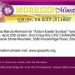 """Action #Easter Sunday""! Join us @gospeltc @WileyJackson TODAY @8am n StoneMountain,GA! http://t.co/KkhdwPvQtT #Glory http://t.co/ISDUZVTljw"