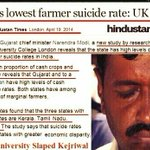 "RT @IndiaBTL: Now, Univ of Cambridge slaps Kejriwal. Its study: ""Gujarat has LOWEST farmer suicide rate"". Cambridge=Ambani agent! http://t.co/A9l8X2tQMH"