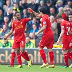 RT @LFC: PHOTO: The Reds celebrate restoring a crucial 3-1 lead over Norwich http://t.co/OR6ZYfbxiM