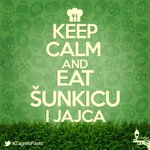 Sretan #Uskrs tviteraši - keep calm and eat šunkicu i jaja! :) http://t.co/On7J6T0F0Z