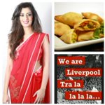 RT @DJNoreenKhan: To celebrate #LFCs win as promised veg samosas for you all made by me in my LFC sari!! #MakeUsDream Get in u reds!! http://t.co/6lnSrG0kIX