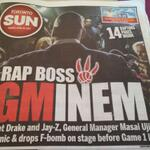 Well, Masai is a G @Ewingsports: Toronto Sun cover after Raptors crazy Game 1 loss to Nets. http://t.co/Z5C6jGWtnw
