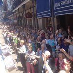 Unbelievable crowds today in the French Quarter for the #Nola Easter Parade honoring Chris Owe ns!! http://t.co/dg8Ihe1lVw