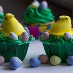 Happy Easter from me and the Peeps! #whipd #cupcake #dessert #foodporn #baking #easter http://t.co/G6WtxzsbZK
