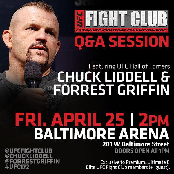 Orlando: Check. Now let's get ready for BALTIMORE!!! Who's excited for our Q&A with @ChuckLiddell & @ForrestGriffin? http://t.co/o0lQAWZwlC