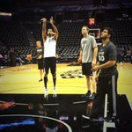 RT @spurs: Duncan getting loose before todays game. #GoSpursGo http://t.co/UBVYPxQTyY