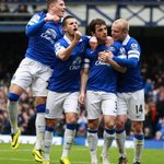 RT @Everton: PHOTO: The Blues celebrate Bainesys opener... #EFCMUFC http://t.co/u998aEHzI4
