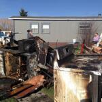 Family and neighbors helping clear debris from early morning trailer fire in #Bozeman. @KBZK http://t.co/ehIpw7gXQw