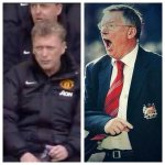 David Moyes when we are losing Sir Alex Ferguson when we are losing #MUFC http://t.co/LIMBqg6DTh