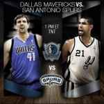 RT @NBA: Two legends tip off their 29th combined #NBAPlayoffs, 1pm/et @NBAonTNT! #SPURSvMAVS http://t.co/MLONWnBTsV