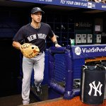 This guy returns to the #Yankees lineup today. First pitch in about 45 minutes at Tropicana Field. http://t.co/0nMC3x0Zyx