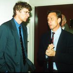 Wenger with Johan Cruyff before a Champions League match between Monaco and Barcelona in the 1993/94 season http://t.co/1sgqp2uSSP