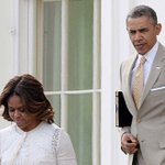 Obamas leave W.H. to attend Easter services. PHOTOS: Last years Easter celebration: http://t.co/AxVFjvODLk http://t.co/UXhDuEfPWv