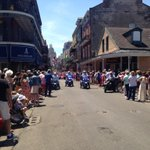 RT @NewsCarolyn: Chris Owens #Easter Parade coming down Bourbon Street now. http://t.co/MYbUGdkeW8