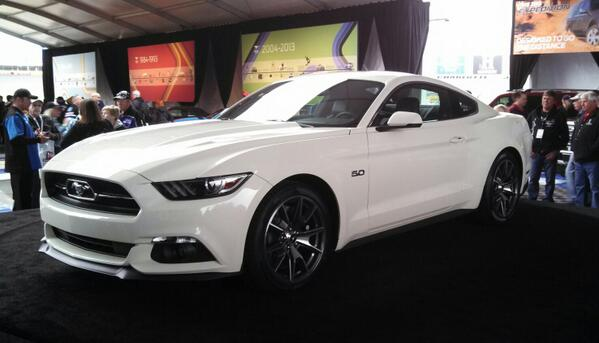 The 50th anniversary Mustang, limited to 1,964 copies. In Wimbledon White, just like Serial #1! #FordMustang50 http://t.co/mf4YmjzLeF